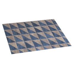 Alfombra de vinilo wood geom 45x75