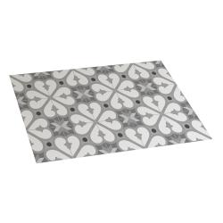 Alfombra de vinilo bcn gris 45x75