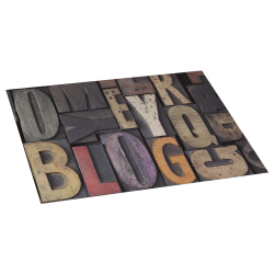 Alfombra de vinilo wood letras 45x75