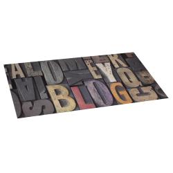 Alfombra de vinilo wood letras 50x110