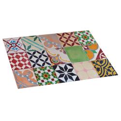 Alfombra de vinilo mosaico color 45x75