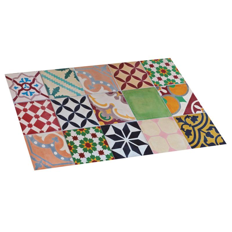 Alfombra de vinilo mosaico color 45x75 diezxdiez - Alfombras de vinilo para cocina ...