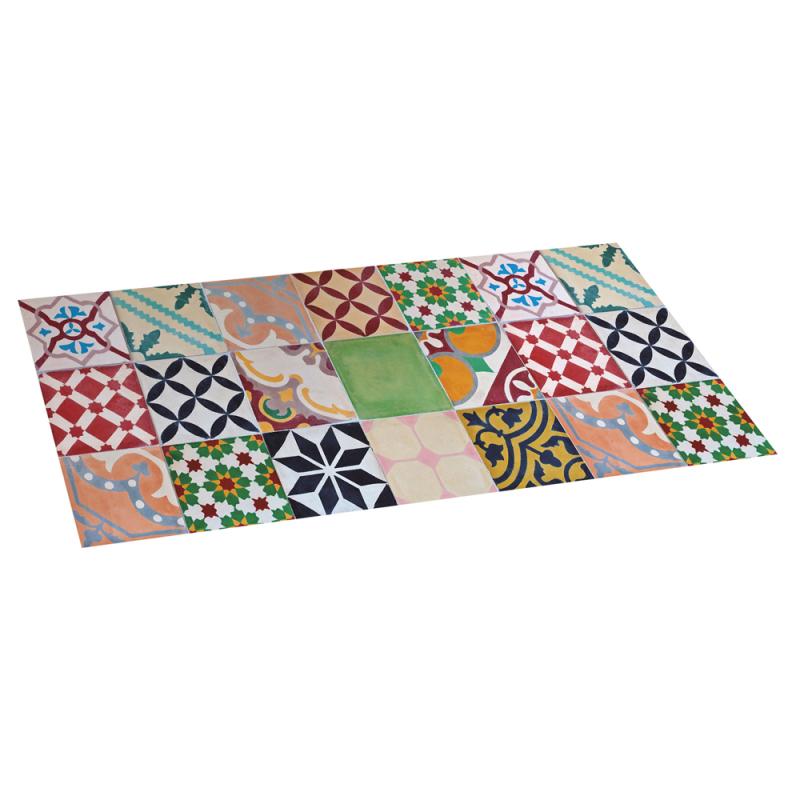 Alfombra de vinilo mosaico color 50x110 diezxdiez - Alfombras cocina amazon ...