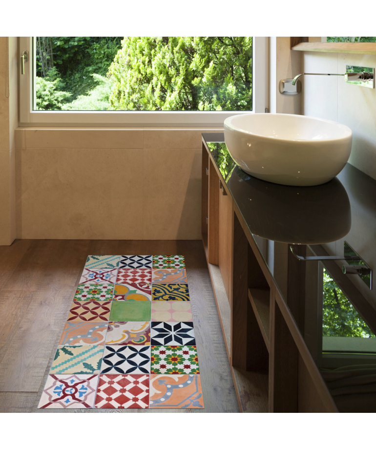 Alfombra de vinilo mosaico color 50x110 diezxdiez - Alfombras de vinilo para cocina ...