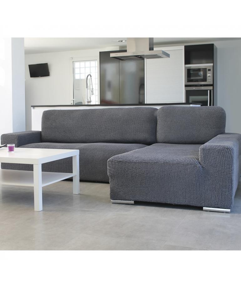 Funda de sof chaise longue b corto glamour diezxdiez - Fundas para sofas con chaise longue ...