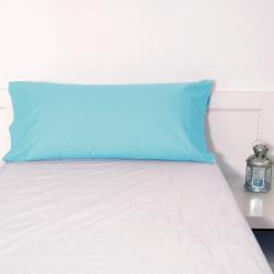Funda almohada turquesa basic