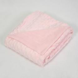 Manta bebé bubbles rosa