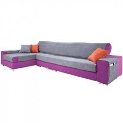 Funda de sofá chaise longue paula