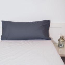 Funda almohada gris plomo basic