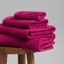 Toalla algodón 550 gr/m2 frambuesa